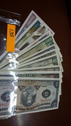 vendo colección completa,billetes del ecuador+albun monedas