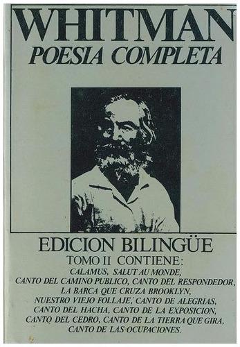 vendo combo de 3 tomos whitman poesía completa ed. bilingue.