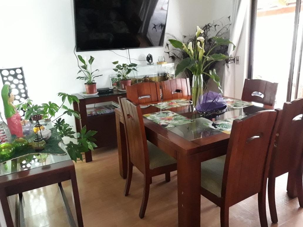 Vendo Comedor Madera Vidrio Buffet Arimo Y Mesa Centro - $ 250.000 ...