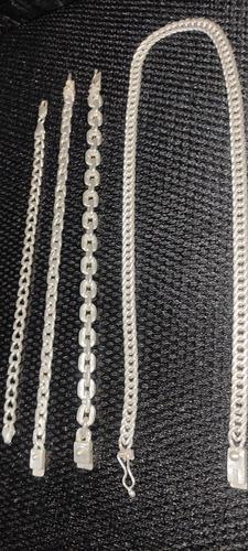 vendo cordão e pulseira de prata 950