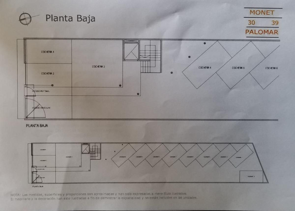 vendo departamento de 1 y 2 ambientes en pozo en el palomar a solo 3 cuadras de la estacion.  f: 7755