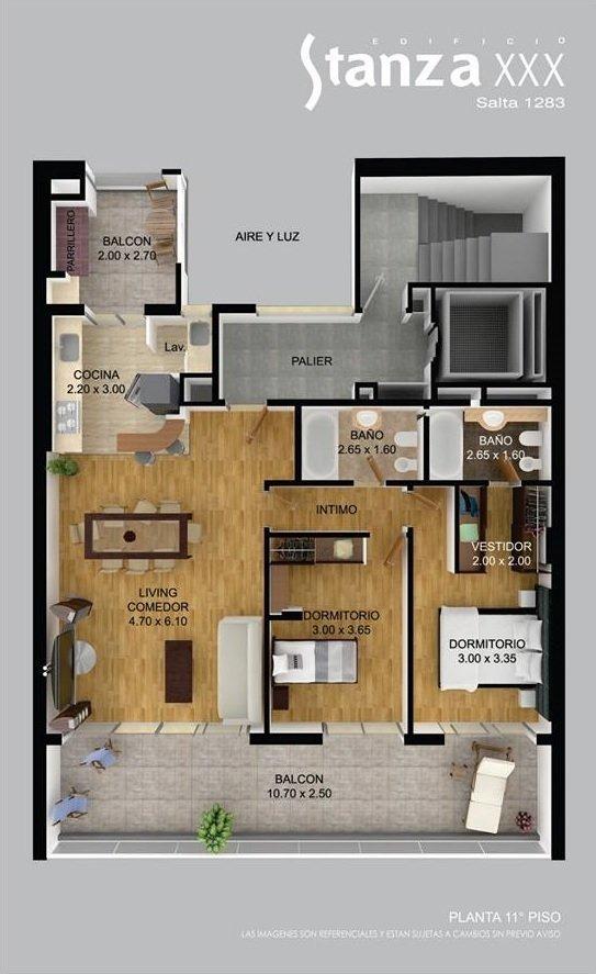 vendo departamento de un dormitorio-salta 1283