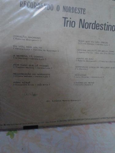 vendo disco de vinil - trio nordestino - recordando o...
