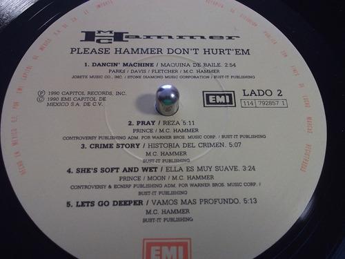 vendo disco lp de mc hammer, usado.