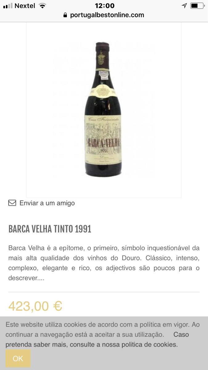 113f935c244 Vendo Dois Vinhos De Ótimo Safra - R  1.800
