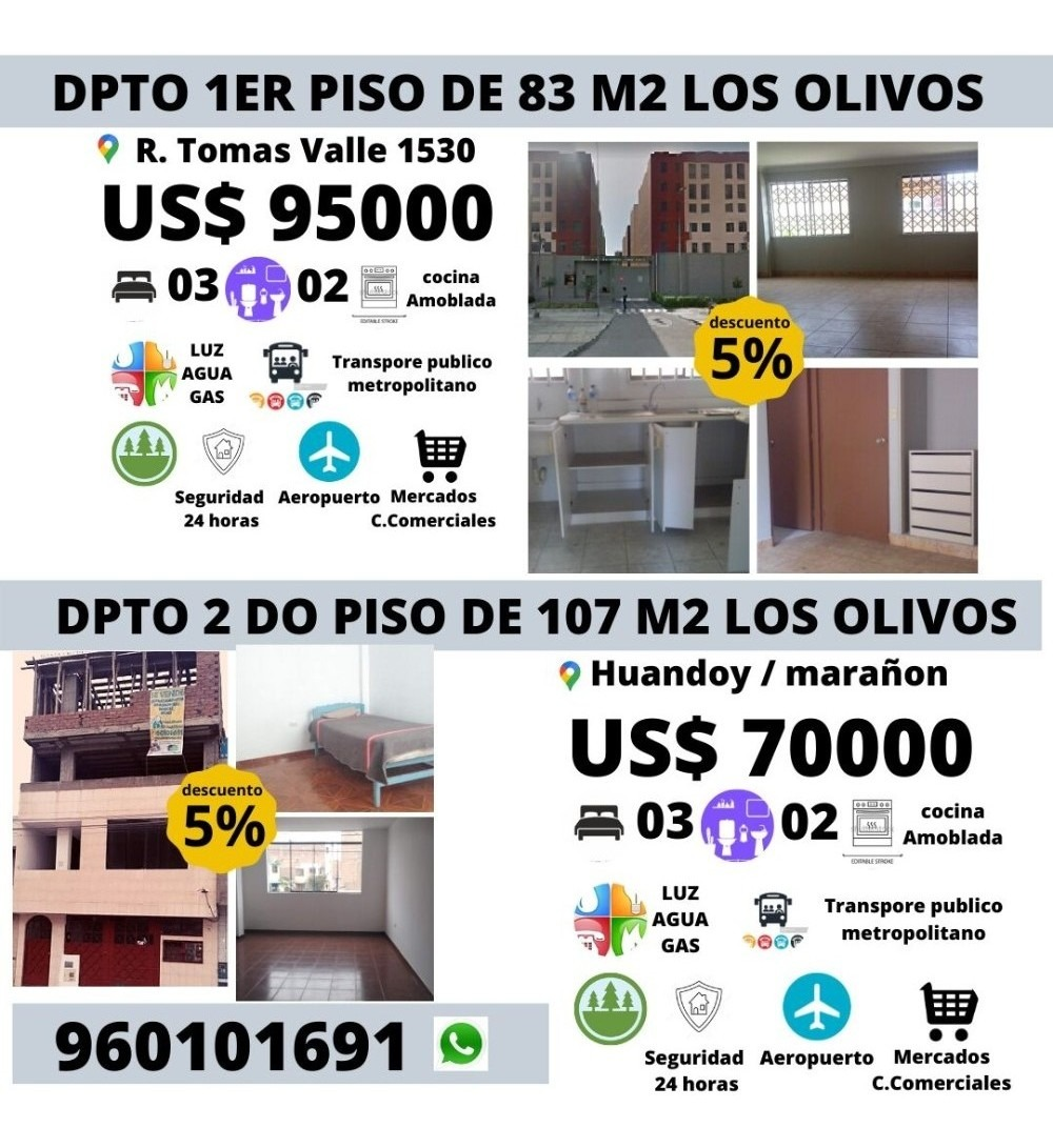 vendo dpto 2do piso 107 m2