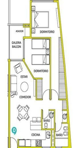 vendo dúplex de 1 dormitorio y medio con asador entrega diciembre 2020
