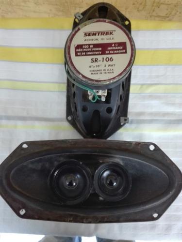 vendo el par cornetas 4 x 10 -marca sentrek-100 watts usadas