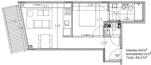 vendo en pozo. en palermo. 2 ambientes con balcón. amenities