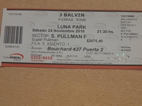 vendo entrada j balvin en bs as lunapark sábado 24/11