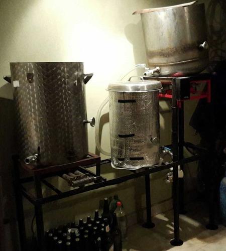 vendo equipo para  elaboracion de cerveza 40lts