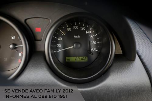 vendo flamante aveo family año 2012
