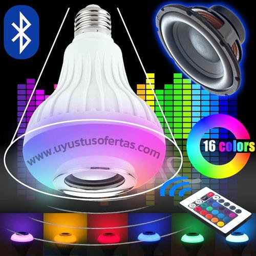 vendo foco multicolor musical bluetooth