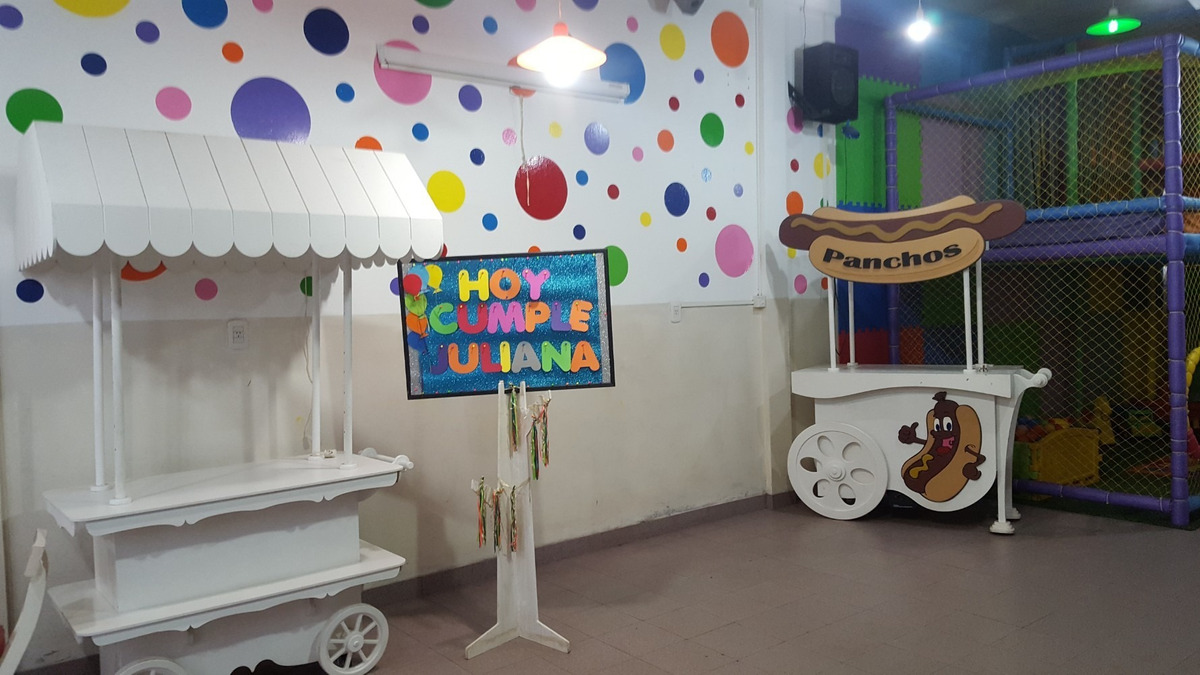 vendo fondo de comercio salón de fiestas infantiles