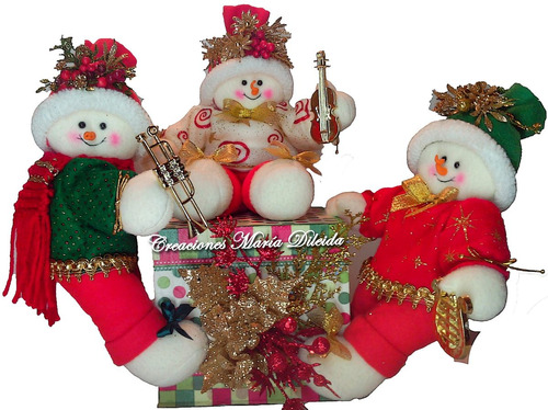 vendo hermosas manualidades navideñas adornos mod 2016