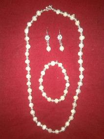 94a612e5dcb4 Collar De Perlas De Rio Con Plata - Joyas en Mercado Libre Perú