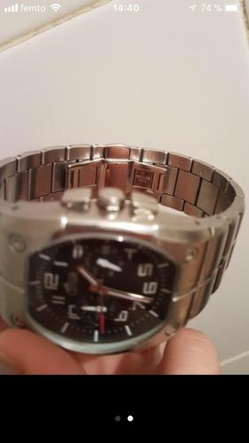 vendo hermoso reloj cronografo lotus 5 at impec. pila nueva