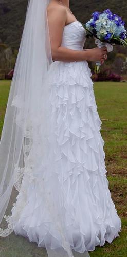 vendo hermoso vestido de novia de pronovias