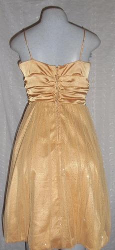 vendo hermoso vestido dorado tipo coctel talla m