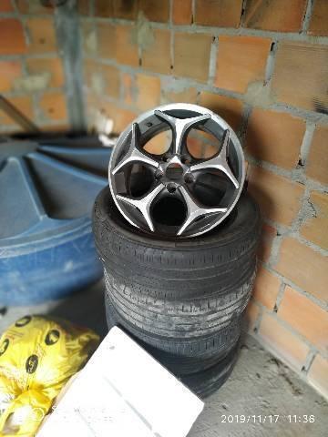 vendo jogo de jantes mais pneus aro 15, 5 furos