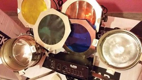 vendo juego de 4 luces par 300 con secuenciador incluido