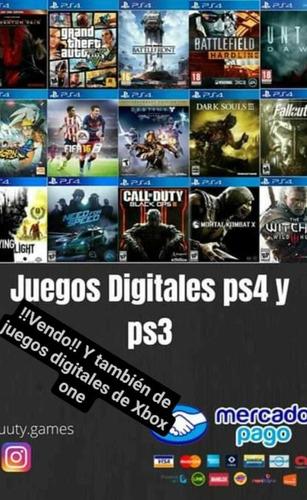 vendo juegos digitales