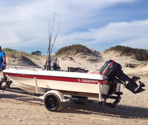 vendo lancha fisherman 430 buen estado embarcación