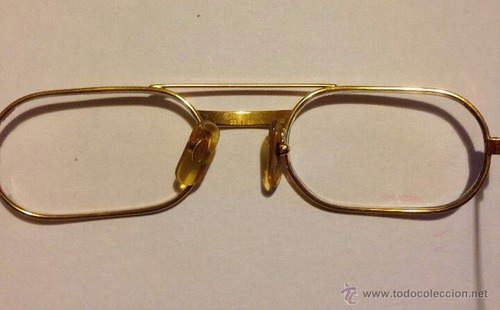 vendo lentes gafas must cartier original bañado oro detalle