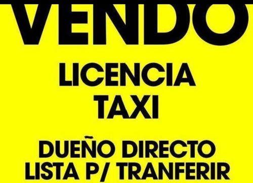 vendo licencia de taxi caba