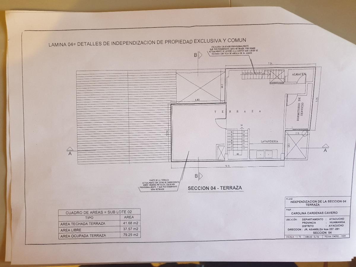 vendo local comercial ayacucho-huamanga jr. asamblea 257-261