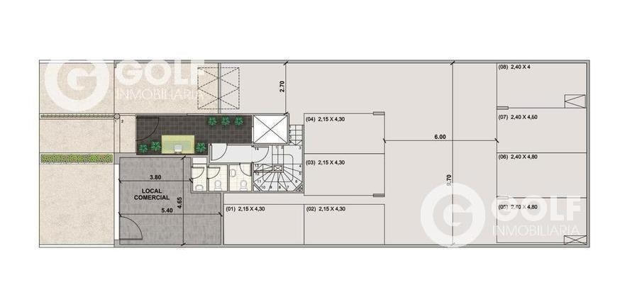 vendo local comercial de 25m2 con patio exclusivo, renta de $20.000 con garantía, pocitos
