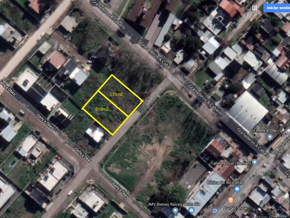 vendo  lote barrio resid exc ubicación,  519m2,apto credito