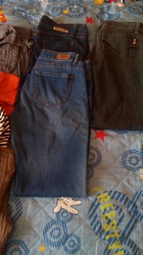 vendo lote de 17 prendas dama+botines cuero+cartera