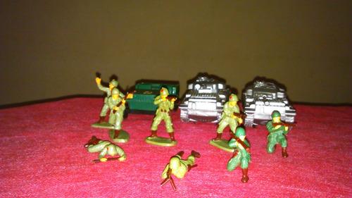 vendo lote de 2 tanques y jeep y soldados