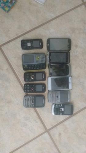vendo lote de celulares com defeito pra consertar ou retirad