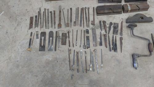 vendo lote de herramientas de carpintería antiguas
