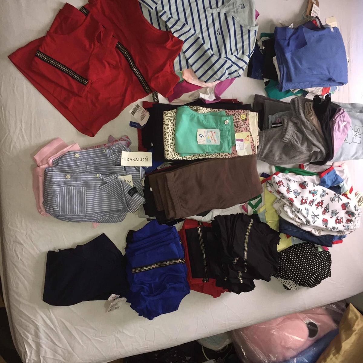 a64b70f373 Vendo Lote De Roupas Para Bebê E Infantis 108 Peças - R  648