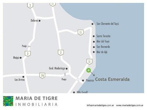 vendo lote en costa esmeralda barrio ecuestre lote 349