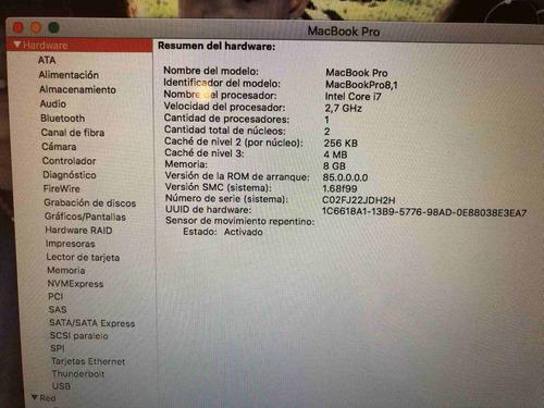 vendo macbook pro 13, early 2011. perfecto estado