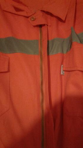 vendo mamelucos de trabajo  color naranja con reflector y el