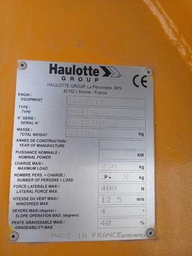 vendo manlift 41 mts, plataforma articulada ha41