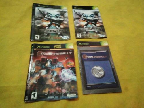 vendo manuales de juegos xbox clasico a $3 cada uno