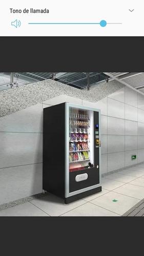 vendo maquina expendedora de aliemntos, bebidas y snacks