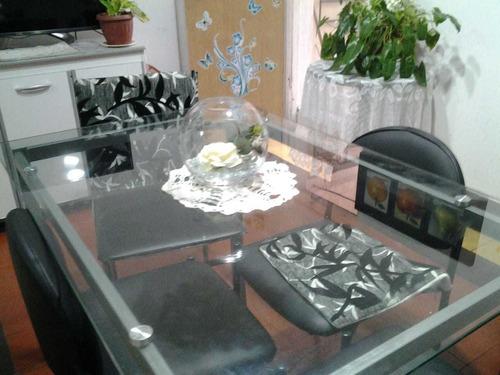 vendo mesa de comedor mesa de vidrio 4 puestos