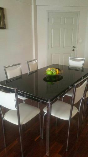 vendo mesa de comedor! vidrio negro templado