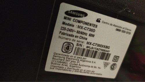 vendo mini componente samsung giga mx_c730d