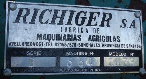 vendo moledora de granos y fardo marca richiger modelo ch79