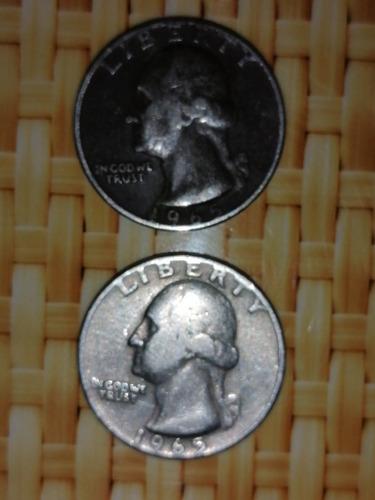vendo monedas de 25 centavos de 1965, 1967, 1977