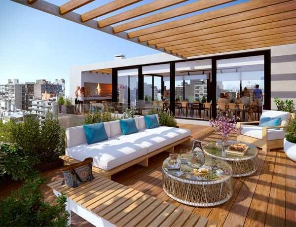 vendo monoambiente amplio con terraza en el cordon