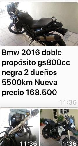 vendo moto bmw negra 800cc doble proposito enterita 168,500